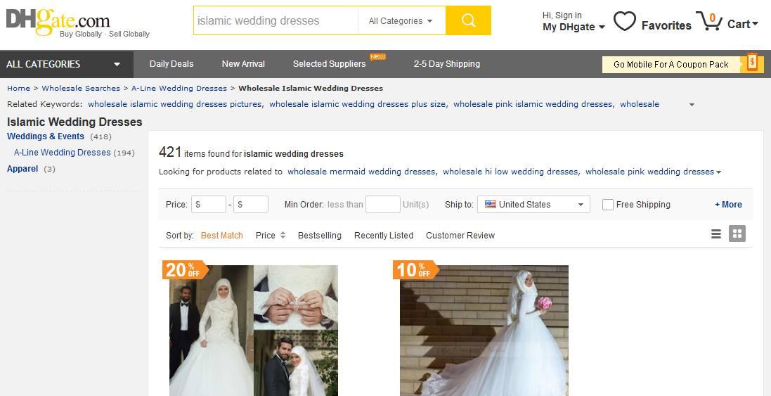 5 chinesische Online-Shops für islamische Brautkleider